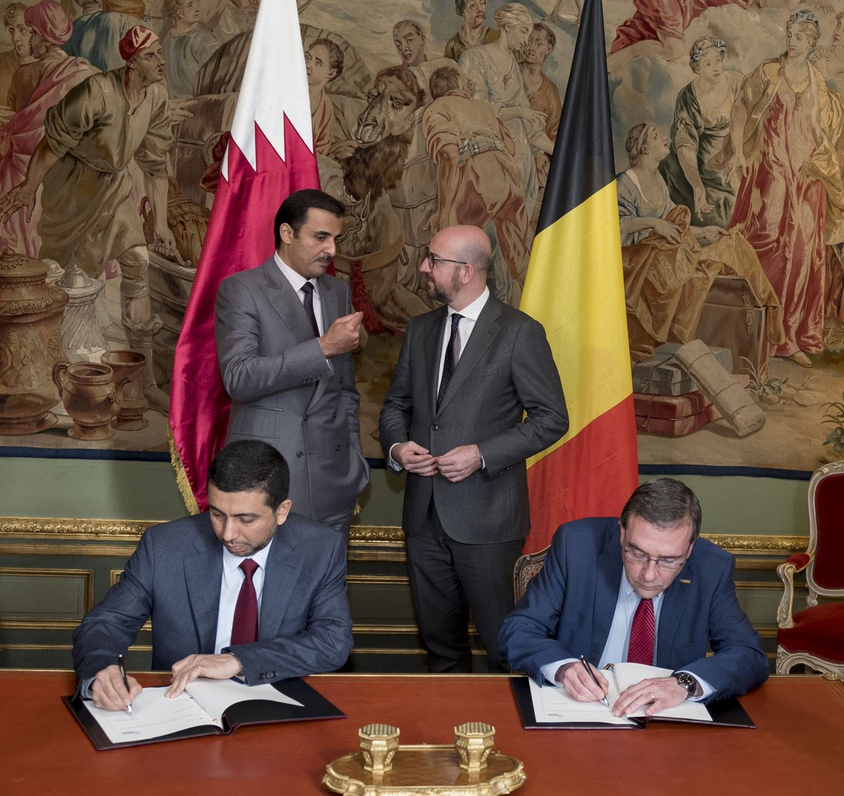 Hh The Emir Visit Belgium A Distinguished Political Relations And